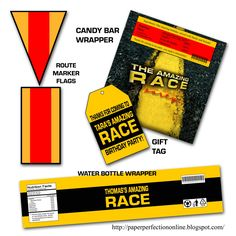 """Paper Perfection: Free """"Amazing Race"""" Birthday Party Invitation"""