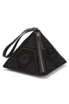 As Above Velvet Pyramid Handbag [B]