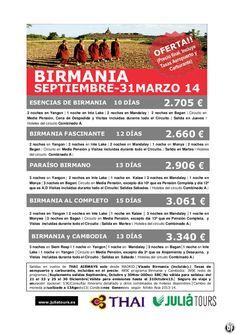 Especial BIRMANIA, Septiembre-Marzo 2014, Thai Airways - http://zocotours.com/especial-birmania-septiembre-marzo-2014-thai-airways/