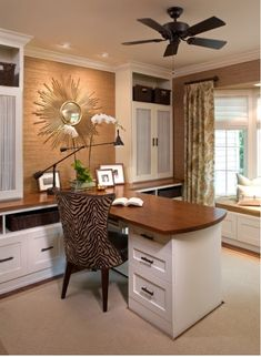 HOME REDESIGN HK: EASY HOME OFFICE IDEA...like the style, but in different colors