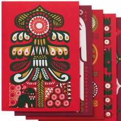 lovely holiday card designs by Marimekko...