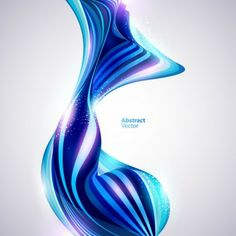 Abstract Blue line Colorful background