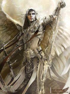 Archangel Raphael - by Eve Ventrue | Featured Artist on the Fantasy Gallery