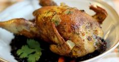 Roasted chukar rubbed with curry, Hungarian paprika, turmeric, ginger and other spices.