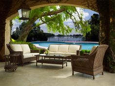 Attrayant Veranda Deep Seating Furniture Group In Front Of A Custom Swimming Pool  Designed And Built By JoPa Company. Love It For A Lifetime.