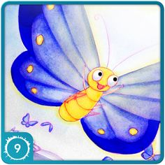 Quigley the Caterpillar ($3.99) for Kindle Fire, By Erin Turnley  Illustrated by Pamela  Goodman. Available now in the Amazon App Store.