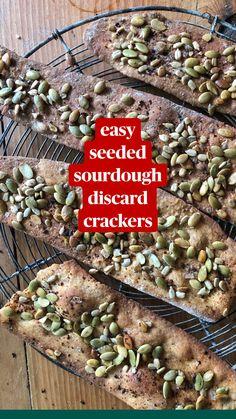 Sourdough Starter Discard Recipe, Sourdough Recipes, Sourdough Bread, Easy Snacks, Healthy Snacks, Healthy Recipes, Fun Baking Recipes, Cooking Recipes, Summer Drink Recipes