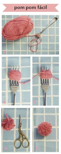 pompom - easy small DIY pompoms