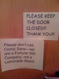 Love this. Down with comic sans