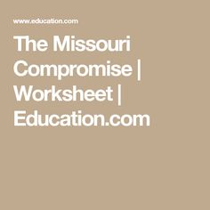 missouri compromise of 1820 for kids