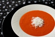 A spicy soup make with sweet peppers and spicy red chile peppers