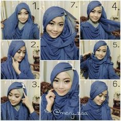 Check out this gorgeous hijab style, beautifully set for any special occasion… Hijab Niqab, Muslim Hijab, Mode Hijab, Hijab Outfit, Tutorial Hijab Pesta, Hijab Style Tutorial, Muslim Girls, Muslim Women, Hijab Fashion Inspiration