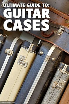 Guitar cases fall into just a few major categories. Each category has its pros and cons, so this article will help you learn which may be best for your situation, whether you're a stay-at-home guitarist or a touring pro. Types Of Guitar, Guitar Building, Guitar Case, Guitar Tips, Ukulele, Touring, Keep It Cleaner, Guy, Cases