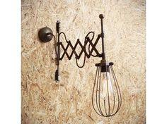 Lampada da parete a luce diretta fatta a mano orientabile CALIS SCISSOR ARM CAGE LIGHT - Mullan Lighting