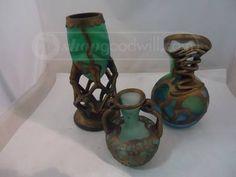 shopgoodwill.com: AMA Art Glass Vase, Jar, and Jug