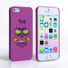 iPhone 5S Purple Monster Case #Purple #Monster #Face #Monster_Face #Halloween #Illustration #Cartoon #Charcter #Head #Gift #Present #iPhone5 #iPhone5S #Case #Cover #HardCase #PhoneCover #PhoneCase