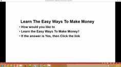 Learn The Easy Ways To Make Money