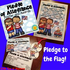 "If you're like me and start each day with your class saying the Pledge of Allegiance, then this product is for you! It comes with one FULL COLOR Poster and Awards in both Full Color & Black and White that read ""I can say the Pledge of Allegiance all by myself!"" Also included are 3.5 inch circular badges that read ""I can say the Pledge all by myself!"""