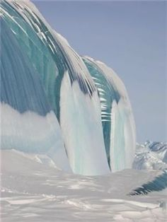 Amazing, I've never seen this before - Frozen Tsunami In Antarctica.
