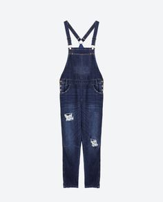 Image 8 of SLOUCHY RIPPED DUNGAREES from Zara