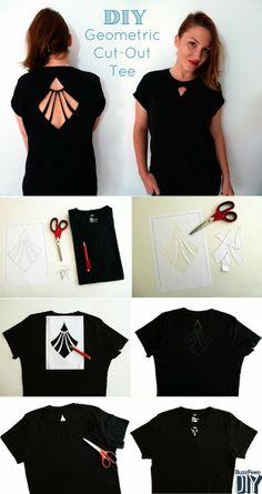 DIY Geometric Cut-Out T-Shirt Tutorial