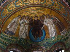 Byzantine Art   second coming san vitale ravenna 547 byzantine art  Perspective: eye to see