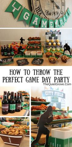 Having a Game Day Party with yummy food and fun decorations can really add to the whole Football game watching experience via @TheQuietGrove