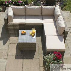 Maze Rattan Winchester Square Corner Sofa Set