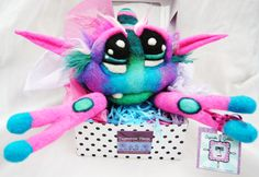 Pinky Pine Sweet Cream Needle Felted Cupcake Goblin by Kasey Sorsby Tanglewood Thicket Creations