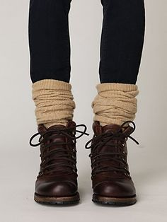 Boots with a little heel plus socks over jeans/leggings.