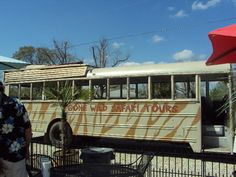 Tour Bus at Gone Wild Safari, Hooper Road, Pineville, LA