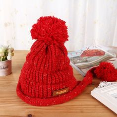 Find More Skullies & Beanies Information about Women Fashion Han Edition New Casual Label with Velvet with Madam Thick Wool Cap Knitting Hat Lady Ear Protection Outdoor Sports,High Quality fashion,China fashion atlas Suppliers, Cheap labels personalized from Bys Store Store on Aliexpress.com