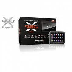 """Wayteq x980BT HD GPS 5"""" 8GB Bluetooth Igo kompatibilis térkép nélkül"""