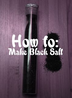 "lokean-witch: ""Special Mama Von Recipe for Samhain! Black Salt, a powerful little ingredient for your spells, hexes, charms and more! Here's my personal recipe for: a) Protection b) Banishing c) Bad Luck Hex You'll Need: Self-igniting..."