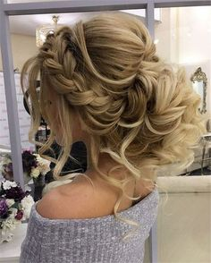 Wedding Hairstyles » Come and See why You Can't Miss These 30 Wedding Updos for Long Hair » Gorgeous Braided Updo Wedding Hairstyle #UpdosLongHair
