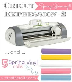 Win an Expressions 2 Cricut Machine & 5 rolls of vinyl!! #giveaway - My poor cricut needs to be replaced. Would love this new one :) Fingers crossed!