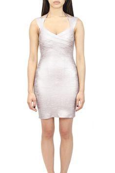 Wrapped Bandage Dress Available in: Silver and Gold  oakandstate.com