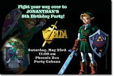 Zelda Birthday Invitation