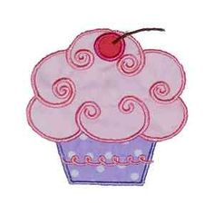 This free embroidery design from Designs by Sick is a cupcake. So yummy!