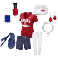 Angels Baseball, created by ircourt on Polyvore i-m-all-about-comfort