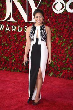 Jenna Ushkowitz wearing J. Mendel at the Tony Awards in 2016