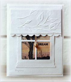 White Window Card...so pretty.