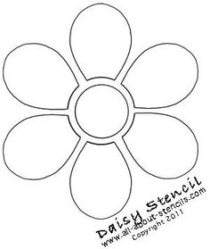 Find a variety of flower stencils including a daisy stencil, a rose stencil and some herb stencils plus so many free stencils to print.Apply Flower Stencils on Everything from T Shirts to Stencil Wall MuralsI'm going to enlarge this image and use it Stencil Patterns, Felt Patterns, Flower Patterns, Sewing Patterns, Pattern Flower, Flower Designs, Applique Templates, Applique Designs, Quilting Designs
