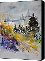 Castle Of Veves Belgium Painting by Pol Ledent - Castle Of Veves Belgium Fine Art Prints and Posters for Sale