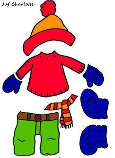 Thema: 'Winter'. Aankleedspel deel 2. Summer Art Projects, Summer Crafts, Enchanted Learning, Birthday Bulletin, Kindergarten, Winter Words, Winter Fairy, Funny Outfits, Enjoy Summer