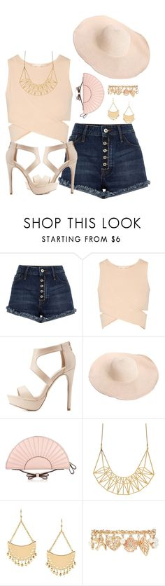"""""""Casual hat"""" by jennifer-allison-bulnes-apolo ❤ liked on Polyvore featuring River Island, Jonathan Simkhai, Charlotte Russe, RED Valentino and Forever 21"""