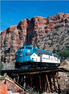 Verde Valley Canyon Railroad Train, Sedona, Arizona. Take a ride on Arizona's longest-running nature show for a safe, fun, adventure in the Sedona area for the whole family.