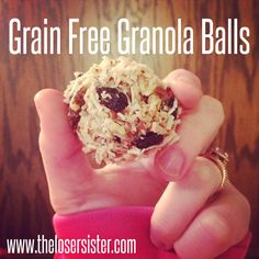 Whole 30 and paleo approved grain free granola balls.