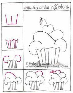 Draw cupcake