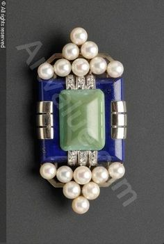 MAUBOUSSIN,Art Deco Brooch